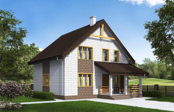 проект дома из теплоблока SDn 533 8