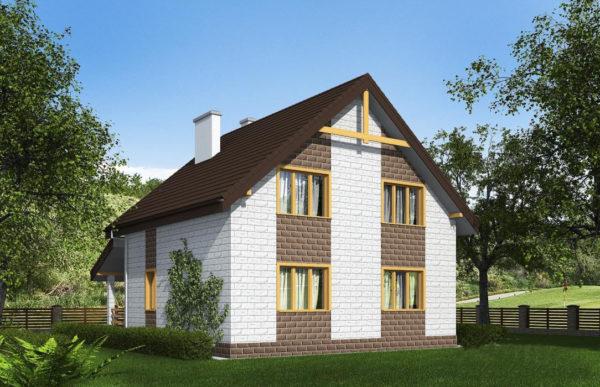 проект дома из теплоблока SDn 533 9