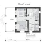 проект дома из теплоблока SDn-539 1