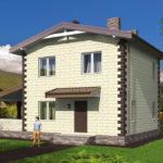 проект дома из теплоблока SDn-539 10