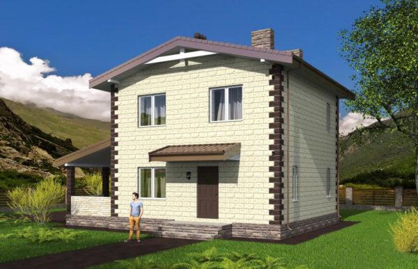 проект дома из теплоблока SDn 539 10