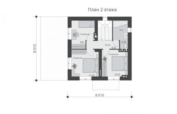 проект дома из теплоблока SDn 539 2