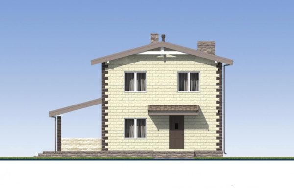 проект дома из теплоблока SDn 539 3