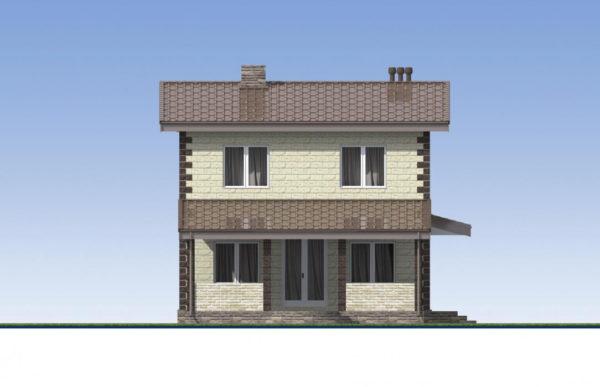 проект дома из теплоблока SDn 539 4