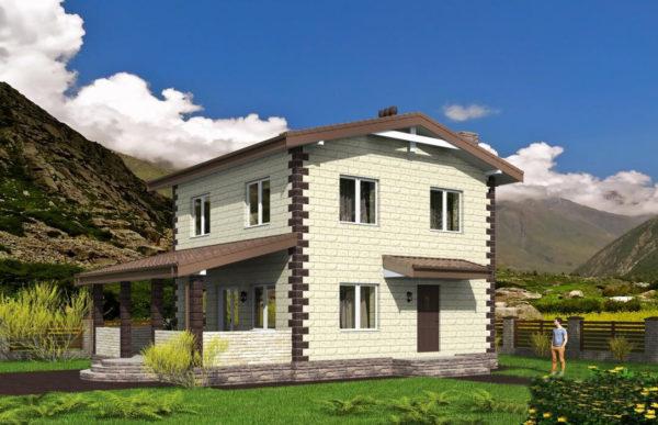 проект дома из теплоблока SDn 539 7