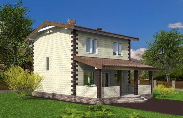 проект дома из теплоблока SDn 539 8