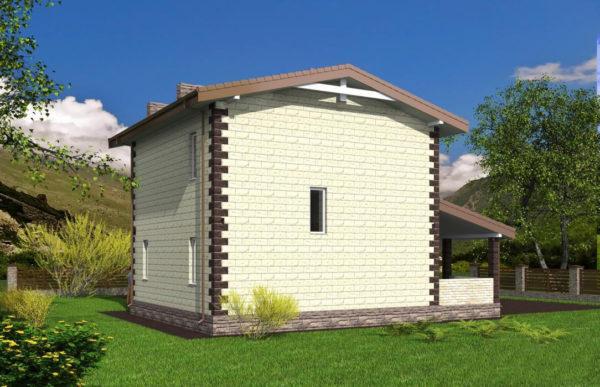 проект дома из теплоблока SDn 539 9