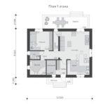 проект дома из теплоблока SDn-544 1