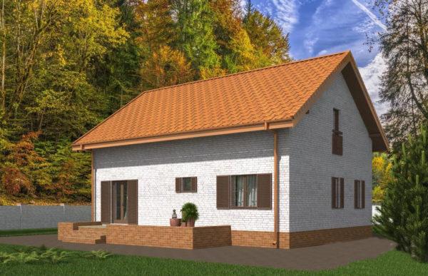 проект дома из теплоблока SDn 544 10
