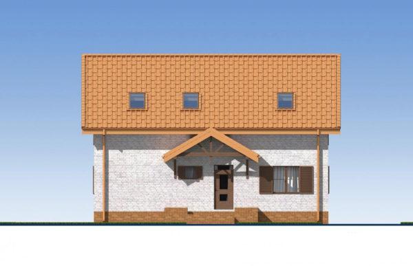 проект дома из теплоблока SDn 544 2