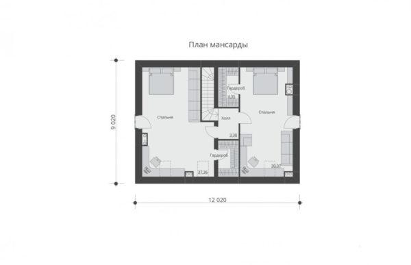 проект дома из теплоблока SDn 544 6