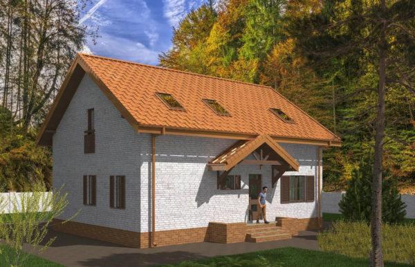 проект дома из теплоблока SDn 544 7
