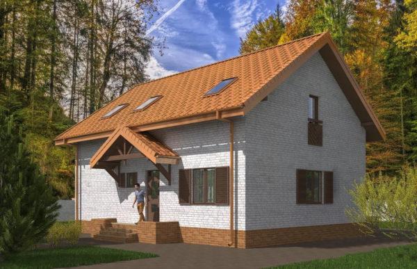 проект дома из теплоблока SDn 544 8