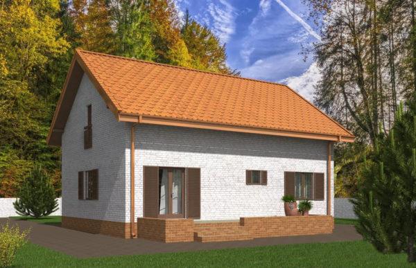 проект дома из теплоблока SDn 544 9