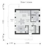 проект дома из теплоблока SDn-551 1