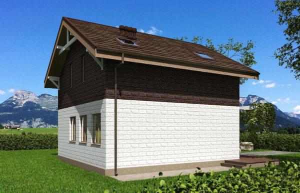 проект дома из теплоблока SDn 551 10