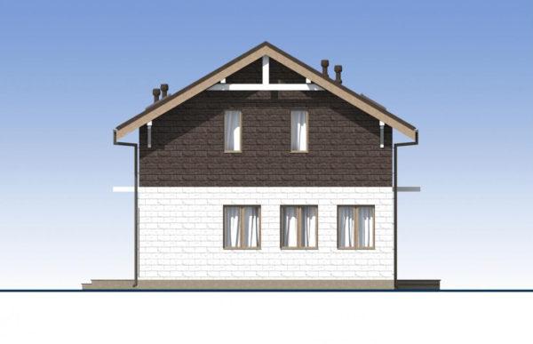 проект дома из теплоблока SDn 551 3