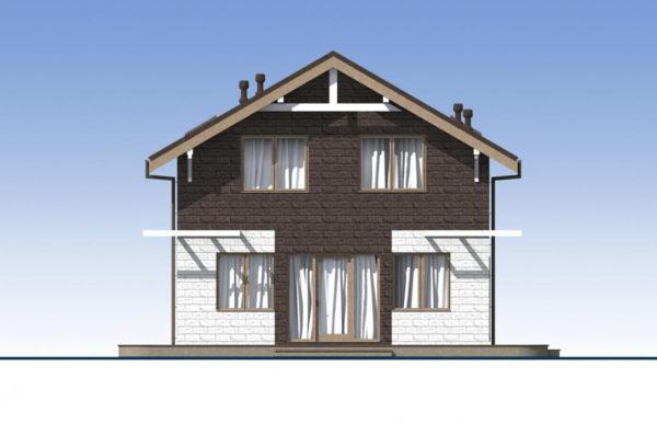 проект дома из теплоблока SDn 551 5