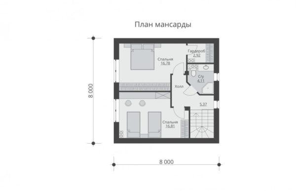 проект дома из теплоблока SDn 551 6