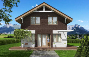 проект дома из теплоблока SDn 551 7