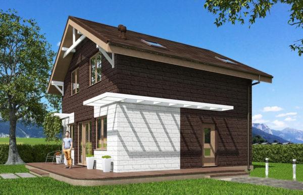 проект дома из теплоблока SDn 551 8