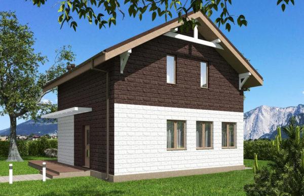 проект дома из теплоблока SDn 551 9