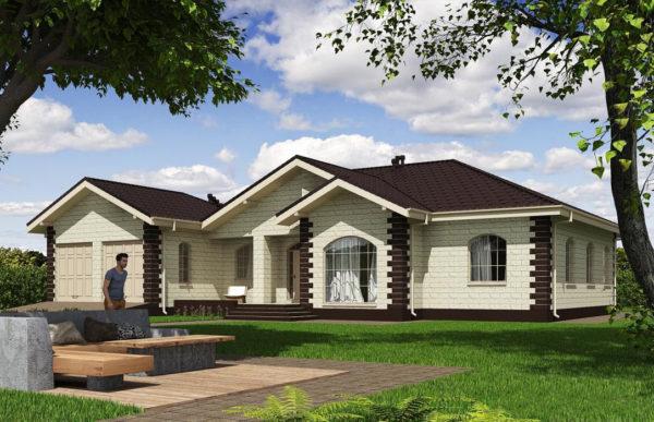 проект дома из теплоблока SDn 564 6