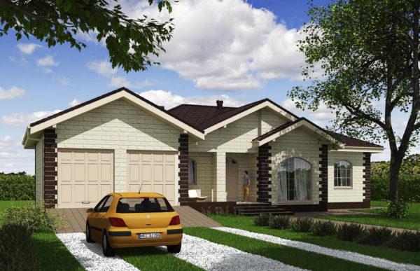 проект дома из теплоблока SDn 564 7
