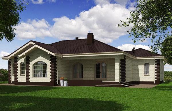 проект дома из теплоблока SDn 564 9