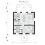 проект дома из теплоблока SDn-567 1