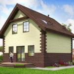 проект дома из теплоблока SDn-567 10