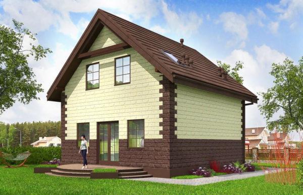 проект дома из теплоблока SDn 567 10