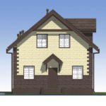 проект дома из теплоблока SDn-567 2