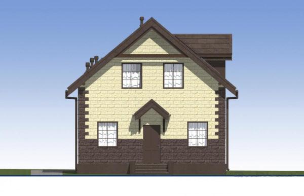 проект дома из теплоблока SDn 567 2