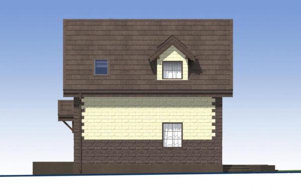 проект дома из теплоблока SDn 567 3