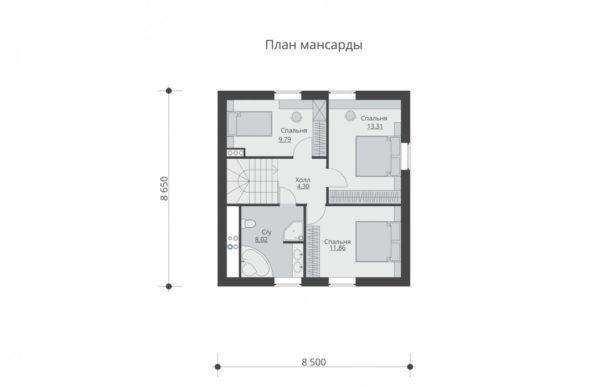 проект дома из теплоблока SDn 567 6