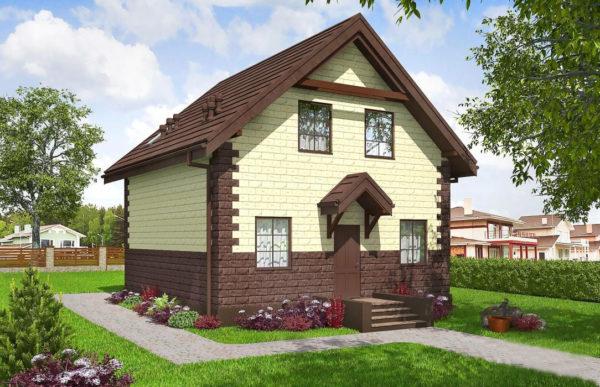 проект дома из теплоблока SDn 567 7