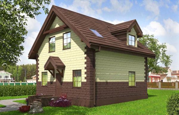 проект дома из теплоблока SDn 567 8