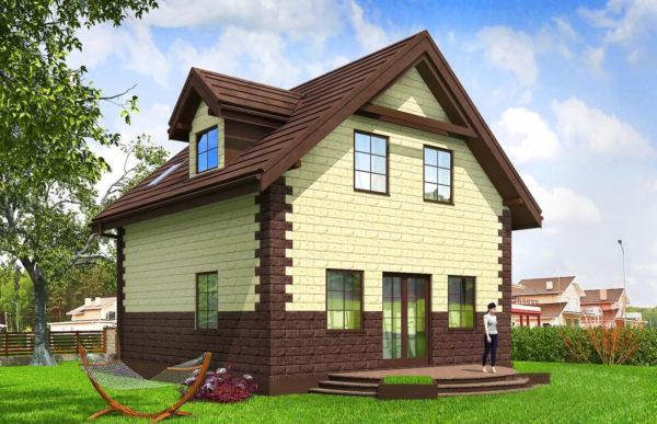 проект дома из теплоблока SDn 567 9