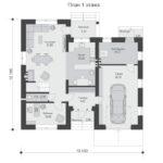 проект дома из теплоблока SDn-569 1