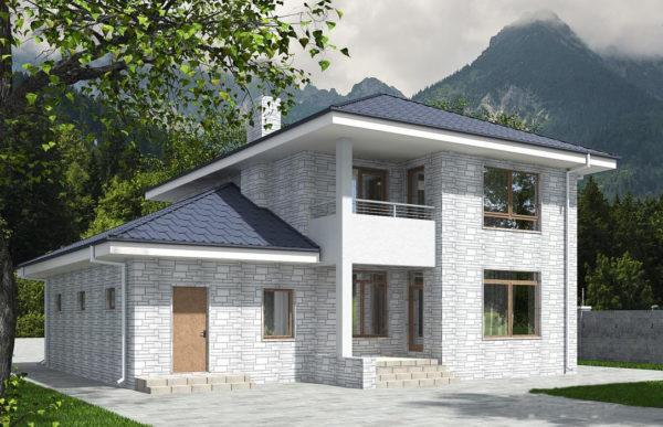 проект дома из теплоблока SDn 569 10