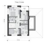 проект дома из теплоблока SDn-569 2