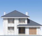 проект дома из теплоблока SDn-569 3