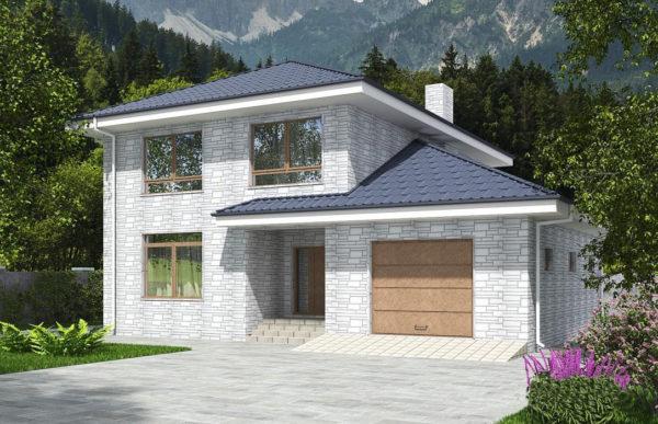 проект дома из теплоблока SDn 569 7