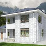 проект дома из теплоблока SDn-569 9