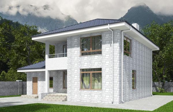 проект дома из теплоблока SDn 569 9