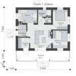 проект дома из теплоблока SDn-572 1