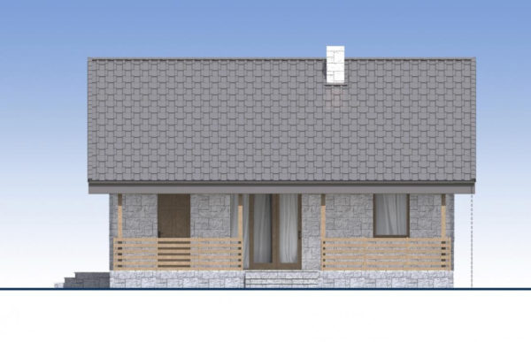 проект дома из теплоблока SDn 572 2