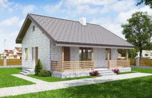проект дома из теплоблока SDn 572 6