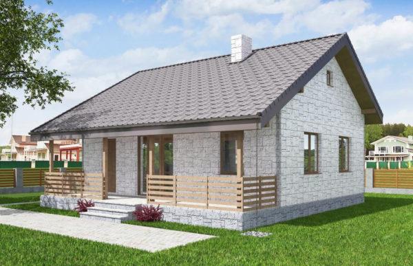проект дома из теплоблока SDn 572 7